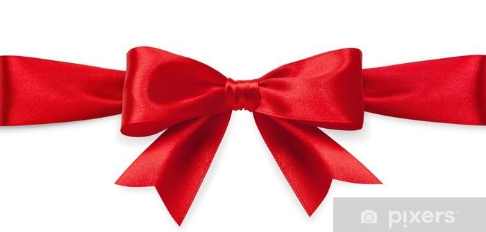 Naklejka Pixerstick Czerwony łuk satyna - Święta międzynarodowe