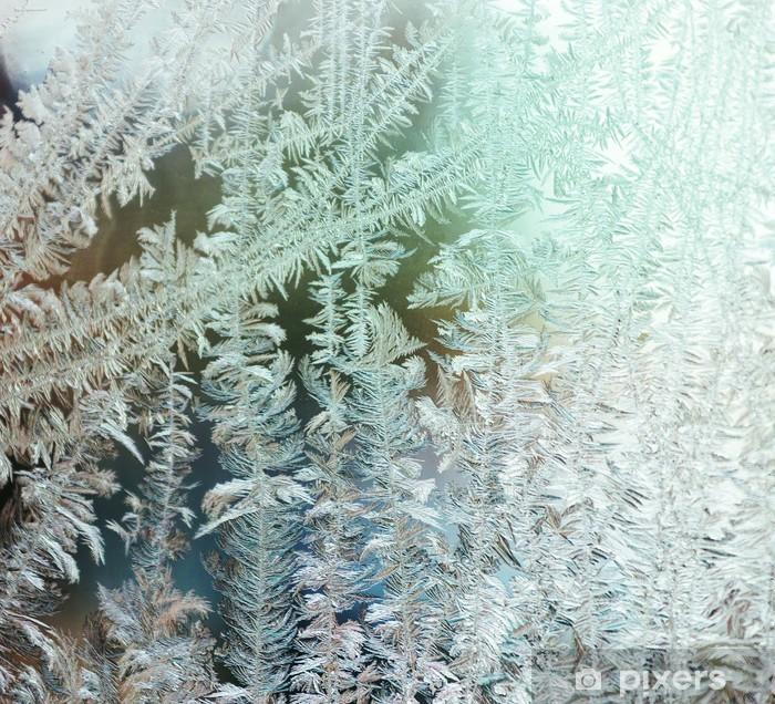 Vinil Duvar Resmi Dondurulmuş pencere - Tatil