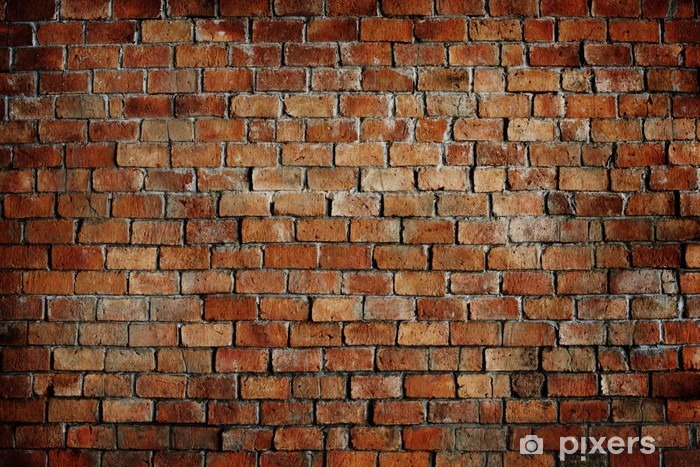 Fotomural Estándar Clásico Hermosa textura pared de ladrillo - Temas