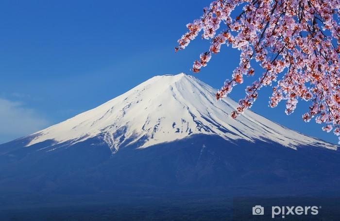 Mount Fuji, view from Lake Kawaguchiko Pixerstick Sticker - Themes