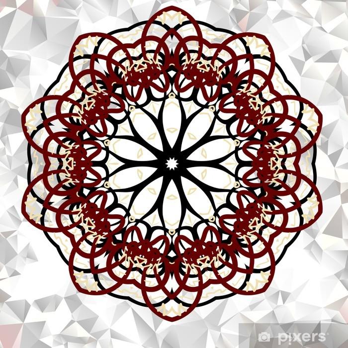 Plakat Mandala. okrągły ornament - Finanse