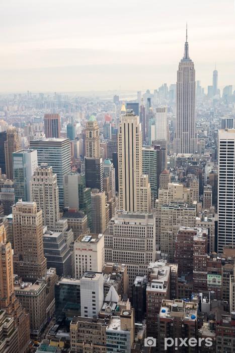 Naklejka Pixerstick Panoramę Nowego Jorku - Tematy