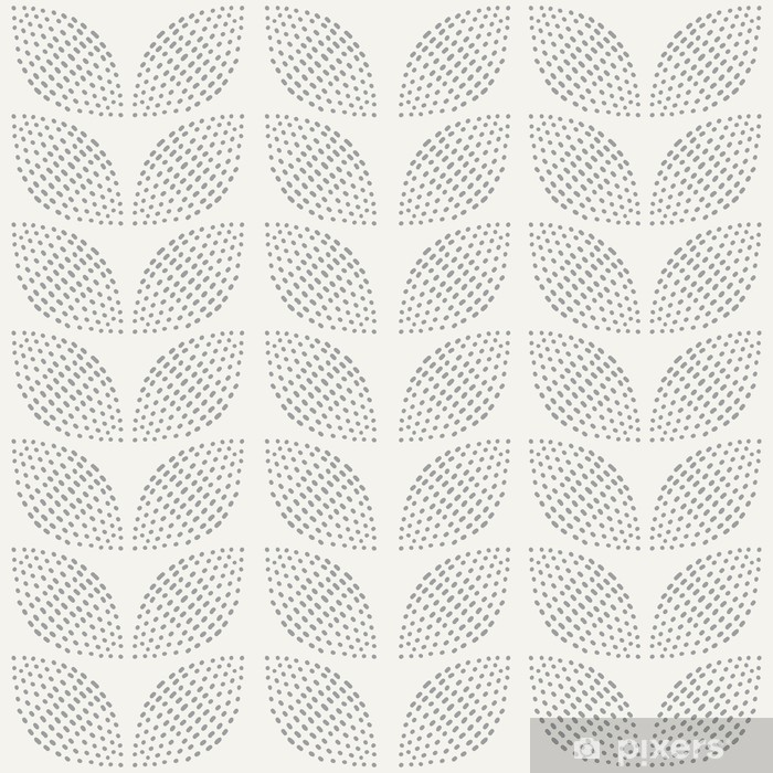 Vinyl Fotobehang Naadloos Patroon. Hand getekend. Bloem. achtergrond ontwerp - Achtergrond