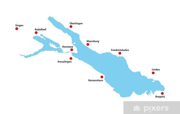 Lago Di Costanza Germania Cartina.Carta Da Parati Bodensee Lago Di Costanza Germania Forma Mappa Molto Dettagliata Pixers Viviamo Per Il Cambiamento