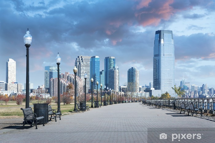 Vinyl-Fototapete Liberty State Park New Jersey City - Amerikanische Städte