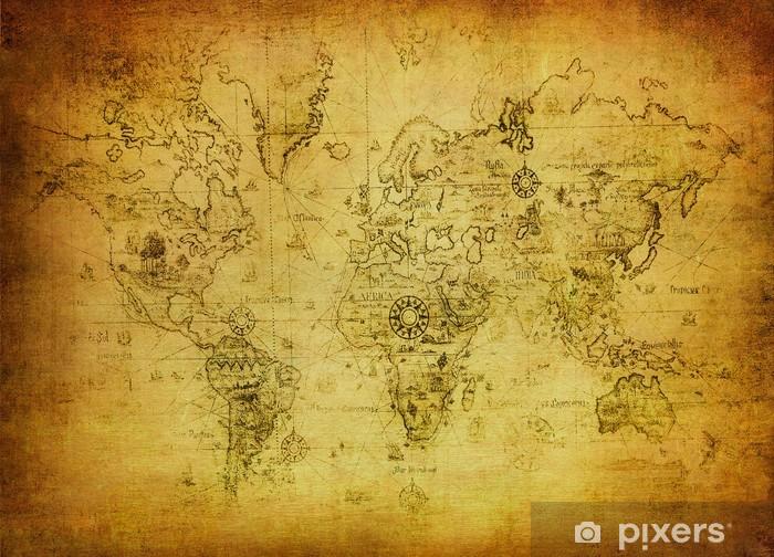 Koc pluszowy Starożytne mapy świata. - Tematy
