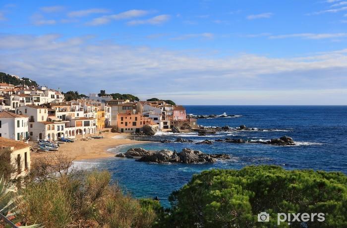 Calella de palafrugell, costa brava, espanja Vinyyli valokuvatapetti -