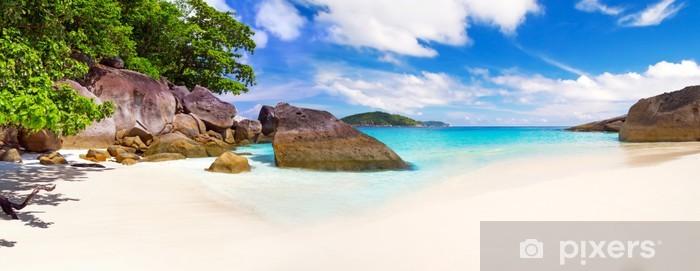 Panorama of tropical beach scenery, Thailand Pixerstick Sticker - Themes