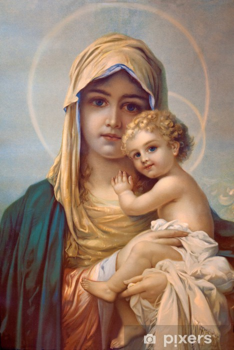 Pixerstick-klistremerke Madonna - Guds mor - Themes