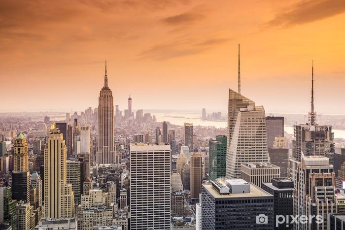 Fototapet av Vinyl New York City Midtown Manhattan Storstads Flygbild - Amerikanska städer