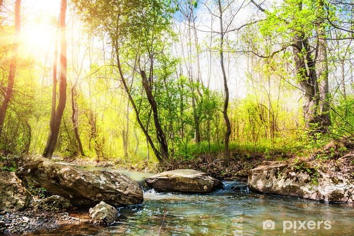 Naklejka Pixerstick Piękny krajobraz lato - Pory roku