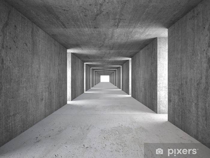Papier peint vinyle Tunnel abstrait - Industrie