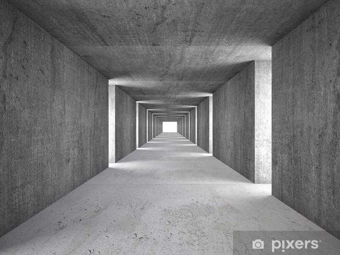 Zelfklevend Fotobehang Abstracte tunnel - Industrie