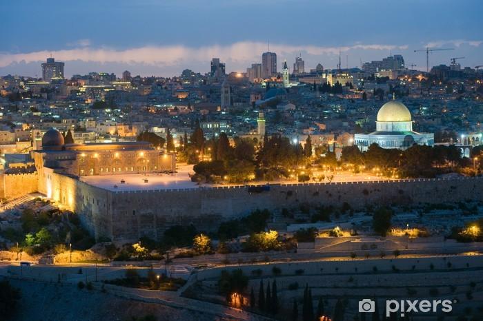 Vinyl Fotobehang Tempelberg in Jeruzalem - Midden Oosten
