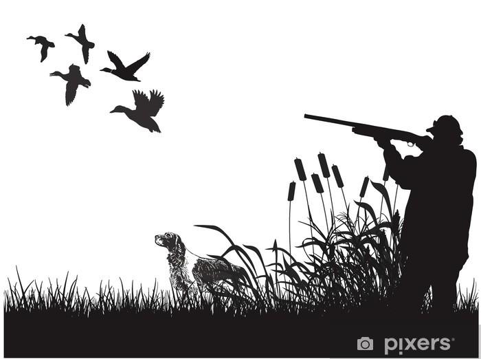 Sticker Pixerstick Chasse canard - Sports d'extérieur