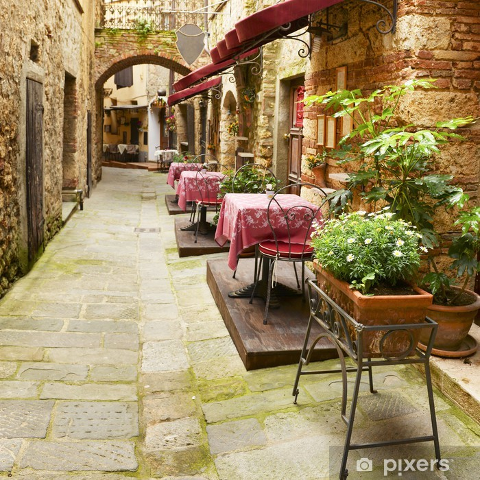 Plakat Restauracja w Toskanii - Posiłki