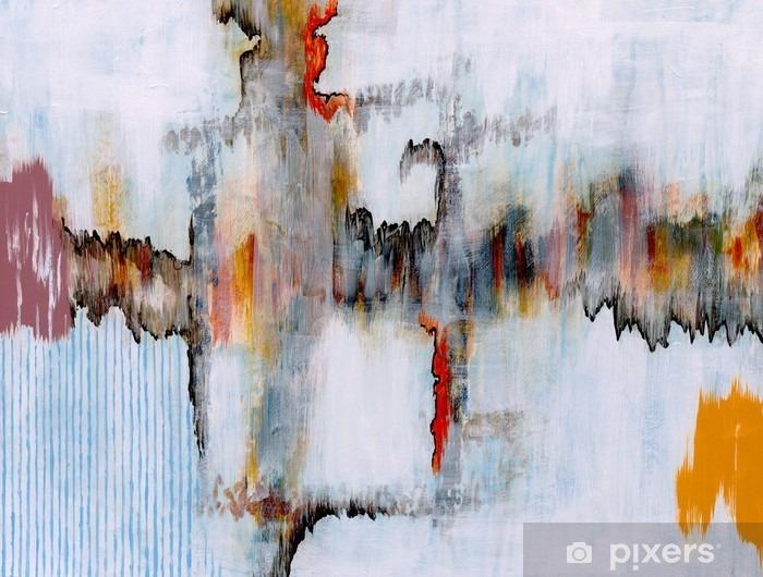 an abstract painting Pixerstick Sticker - Technology