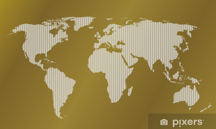 Gold map of the world stripes Sticker - Pixerstick Gold Map on london's map, around the world map, quartz crystal map, true map, crazy world map, iron mining map, classic map, black map, tin deposits map, original map, metallic map, diamond map, old west map, gilgal map, iron deposits map, natural earth map, blue china map, blue ocean map, tin ore map, china bubble map,