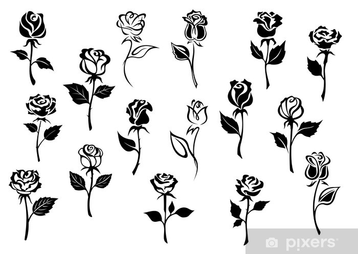 tegning blomster. kirsebær blomstre clip-art eller Lagervektor (royaltyfri)  513994549