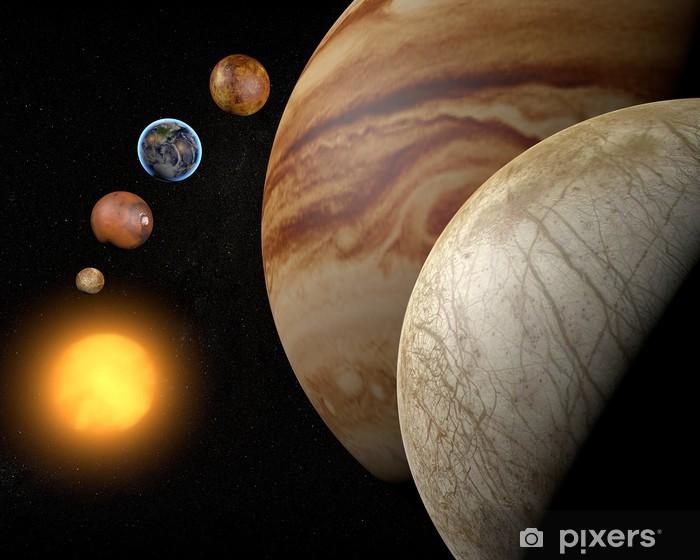 Papier peint vinyle Satellite Europa, la lune de Jupiter, l'espace système solaire - Espace