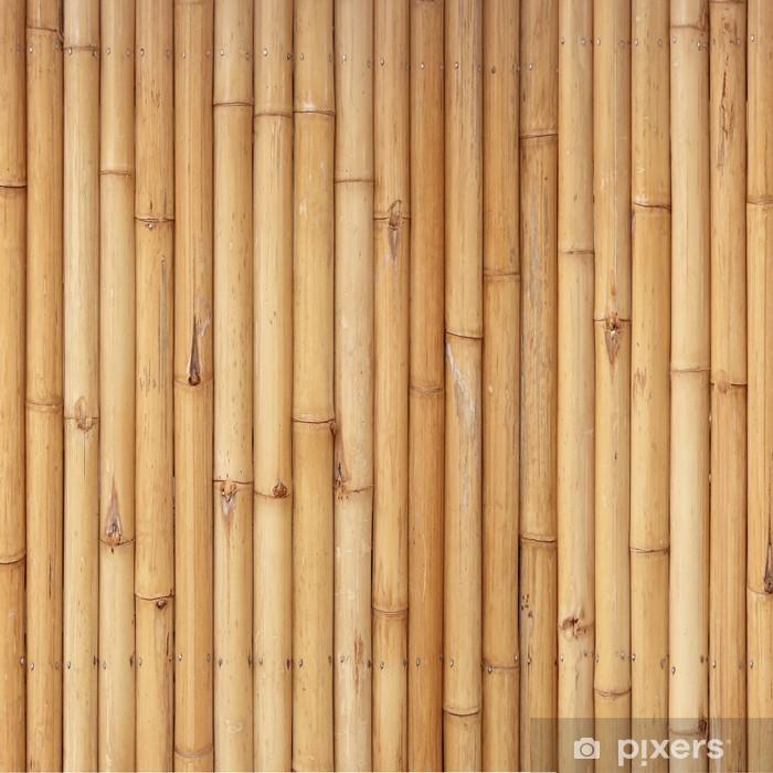 Plakat Bambus ogrodzenia tła - Tekstury
