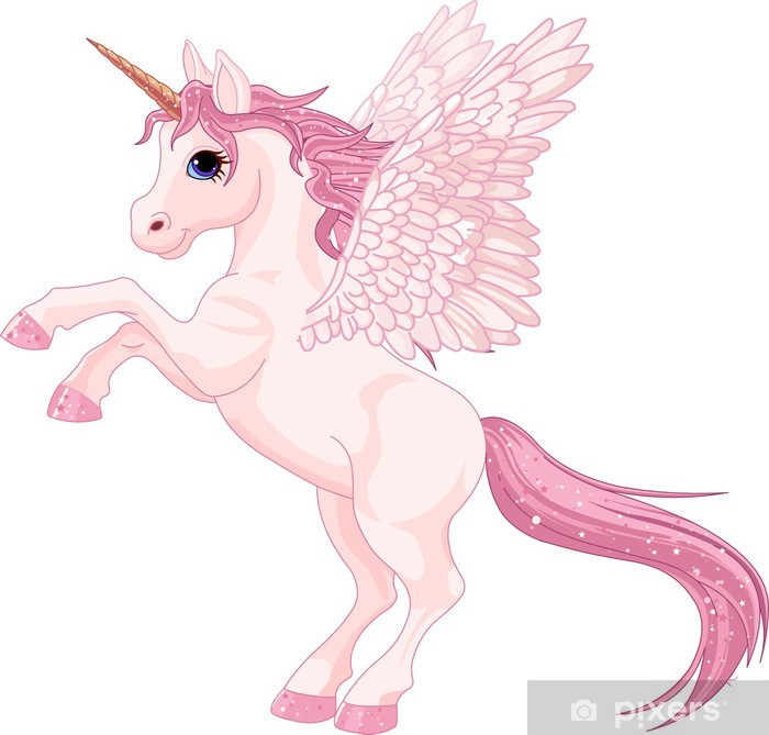 Unicorn Pegasus Vinyl Wall Mural - Animals