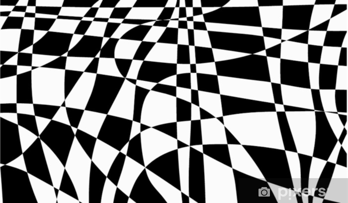 Sticker Pixerstick Abstrait irrégulier noir et blanc - Ressources graphiques