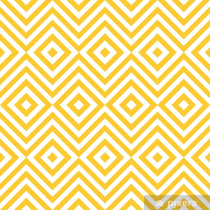 Ethnic tribal zig zag and rhombus seamless pattern. Pixerstick Sticker - Art and Creation