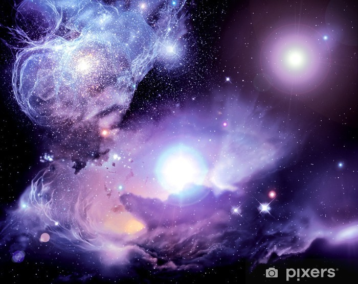 Pixerstick Aufkleber Fantasy Space Nebula - Universum