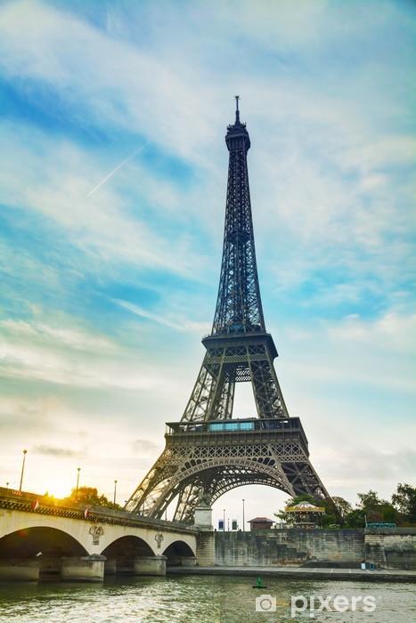 Sticker Pixerstick Paysage urbain de Paris avec la tour eiffel - Villes européennes