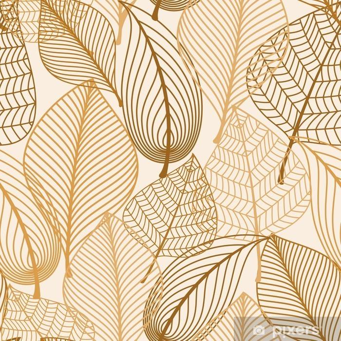 Fotomural Estándar Modelo inconsútil con las hojas marrones Atumnal - la ciencia y la naturaleza