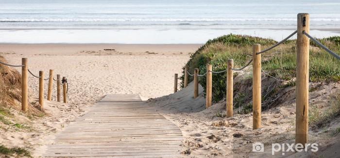 Pixerstick Sticker Panorámica de playa - Vakantie