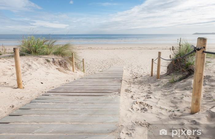 Vinyl Fotobehang Een paadje naar het strand - Bestemmingen