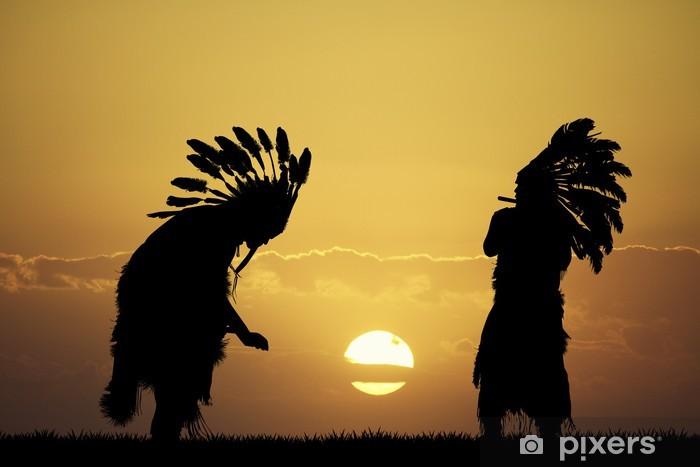 Papier peint vinyle Indien au coucher du soleil - Hommes