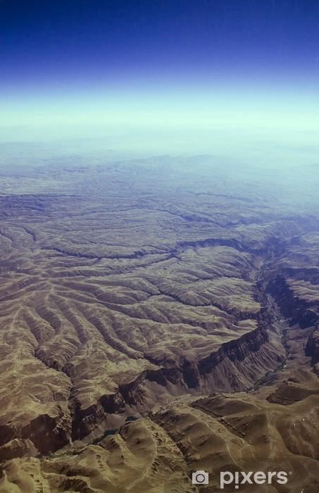 Vinyl-Fototapete Blick aus dem Flugzeug - Urlaub