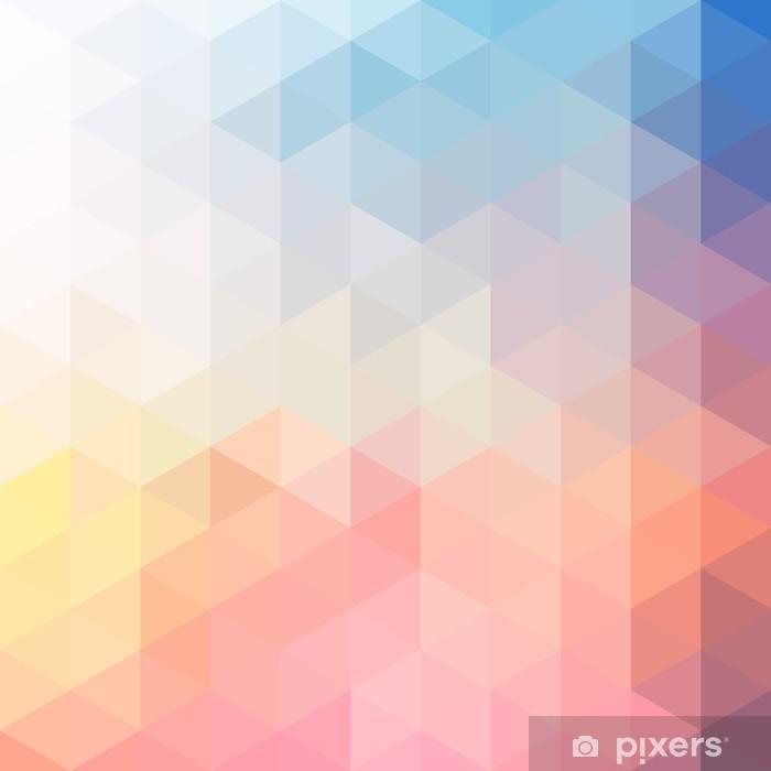 Naklejka Pixerstick Polygon tle - Tła