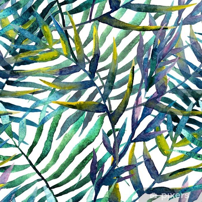 Papier peint vinyle Feuilles d'arbre abstraites à l'aquarelle - iStaging