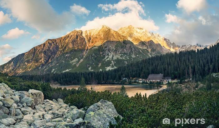 Sticker Pixerstick Montagne lac Popradske dans les Hautes Tatras - Europe