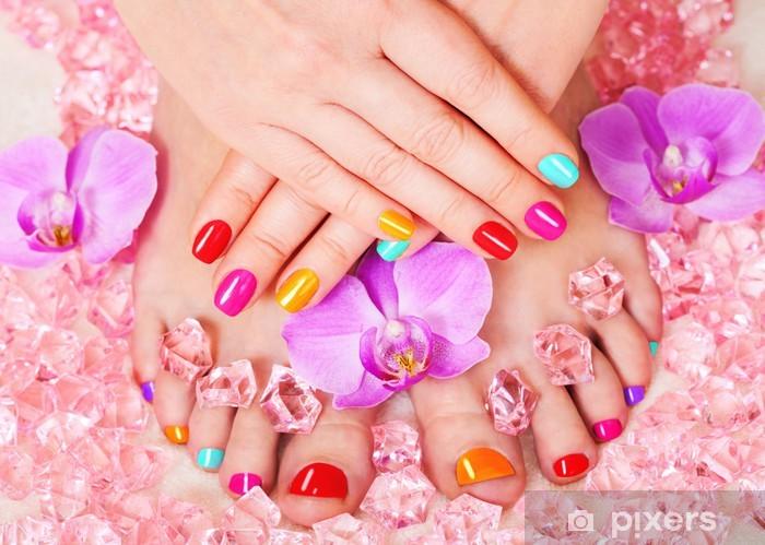 Beautiful manicure and pedicure Pixerstick Sticker - Lifestyle>Body Care and Beauty