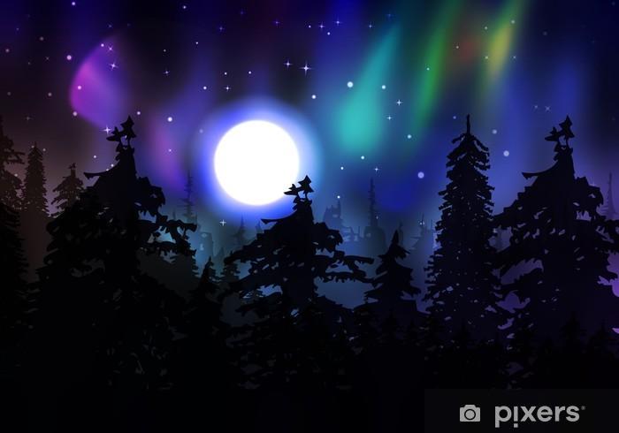 Sticker Pixerstick Colorful Aurora Borealis - Merveilles naturelles