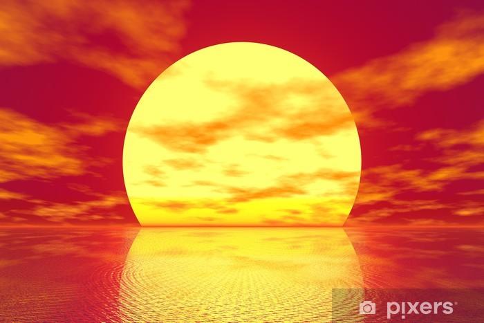 Fototapeta winylowa Złoty słońca - Niebo