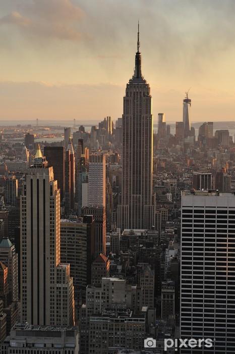 Papier peint vinyle Toits de New York et de l'Empire State Building, Manhattan, New - Amérique