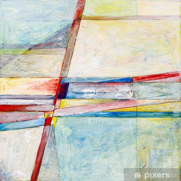 Pixerstick Sticker Een abstract schilderij - Hobby's en Vrije tijd