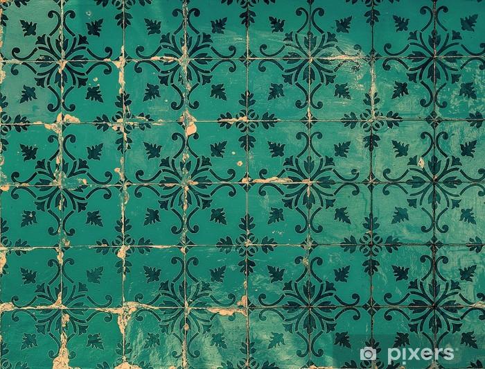 Naklejka Pixerstick Rocznika azulejos, tradycyjne portugalskie płytki - Abstrakcja