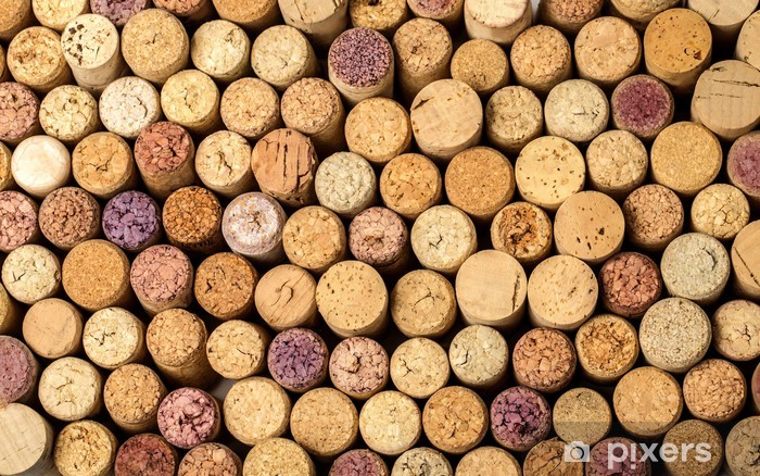 wall of used wine corks. Pixerstick Sticker - Backgrounds