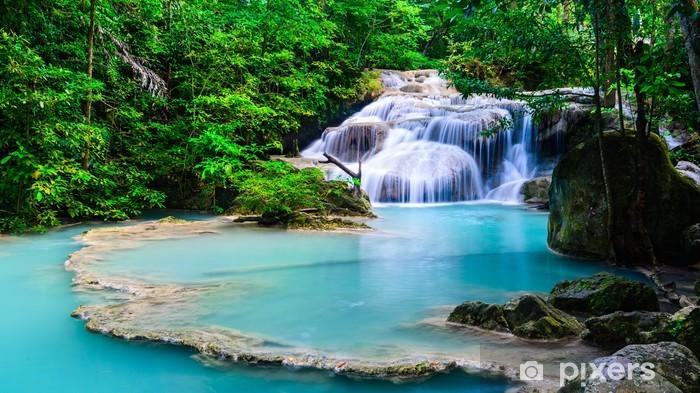Nálepka Pixerstick Vodopád na Národní park Erawan - Asie