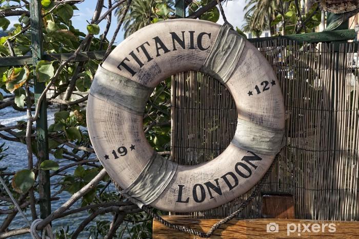 Fototapeta winylowa Titanic statek boja życie - Transport wodny