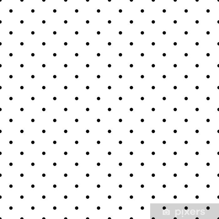 Nieuw Fotobehang Tegel vector patroon van zwarte stippen witte FA-44
