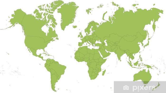 Fototapeta winylowa Mapa świata - Naklejki na ścianę