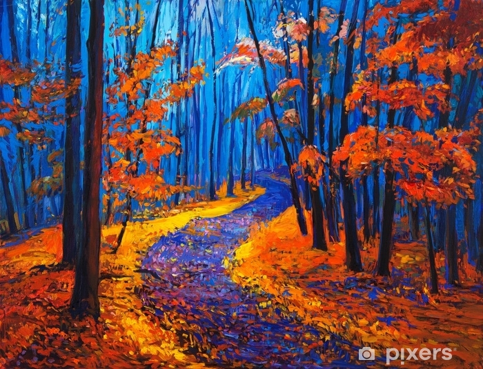 Fotomural Autoadhesivo Paisaje de otoño - Hobbies y entretenimiento